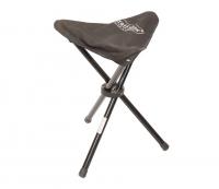 Черный складной стульчик для рыбалкина три ножки, размеры 27х27х48см