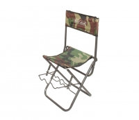 Складной стульчик для рыбалки с подставкой для удочек, размеры 25х25х70см