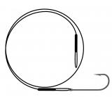 Поводок NYLON wire only & kirby hook / черный никель