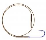 Поводок NYLON wire only & kirby hook / коричневый