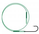 Поводок NYLON wire only & kirby hook / зеленый