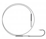 Поводок NYLON wire only & kirby hook / серебро