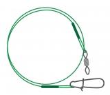 Поводок NYLON diamond rolling swivel & swedish snap / зеленый