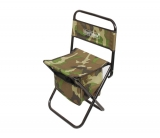 Складной стульчик со спинкой и сумкой для рыбалки, размеры 39х30х39см