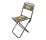 Складной стульчик для рыбалки с высокой спинкой, размеры 34х34х74см