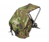 Складной стульчик для рыбалки с рюкзаком позади, размеры 56х34х37см