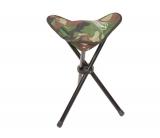 Камуфляжный складной стульчик для рыбалки на три ножки, размеры 27х27х48см
